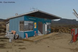 MAZDA - Gas Station Set